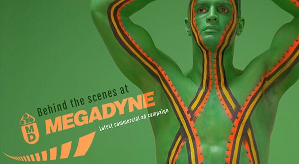 Commercial Bodypainting project for Megadyne