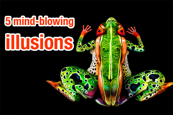 5 mind-blowing bodypainting illusions
